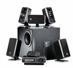 Logitech+Z-5450+%26+Z-4+Wireless+5.1+Surround+Sound+Speaker+System