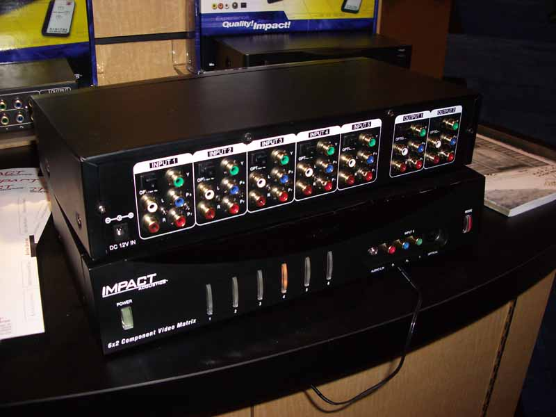 6x2 Component Video Matrix Switcher