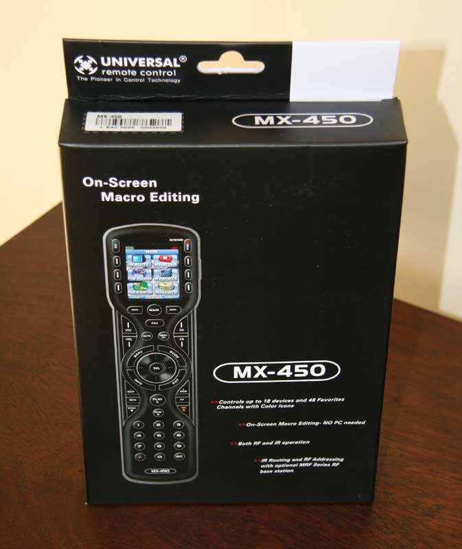 Universal Remote Mx 450 Remote Control Review Audioholics